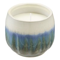 Better Homes & Gardens Small Asbay Ceramic Citronella Outdoor Candle with Thyme Essential Oil, 8.5oz