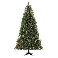 Holiday Time Pre-Lit 7.5' Kennedy Fir Artificial Christmas Tree, Clear-Lights