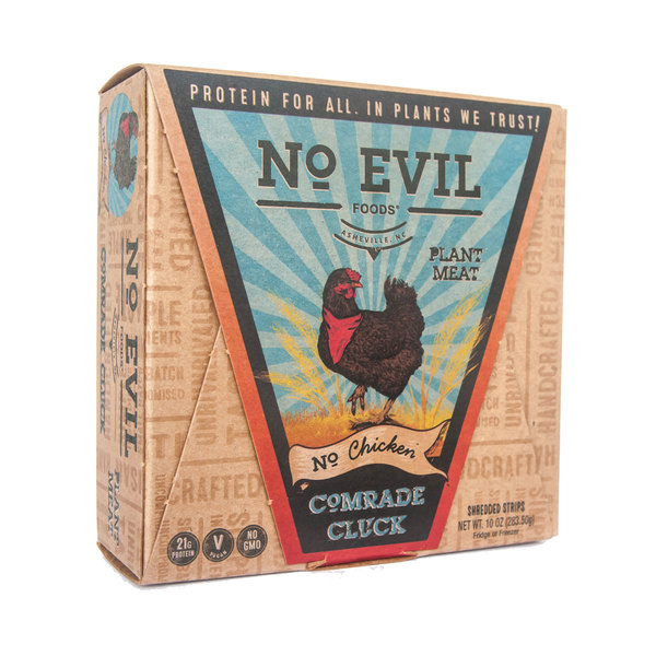 No evil foods Comrade Cluck, 'Shredded Chicken Strips' Plant Meat, 10 oz