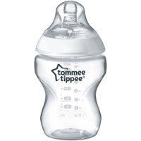 Tommee Tippee Closer to Nature Baby Bottle – 9 ounces, Clear, 1 Count