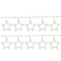 Northlight 100ct Twinkling Star Icicle Christmas Lights Clear - 10.1' White Wire