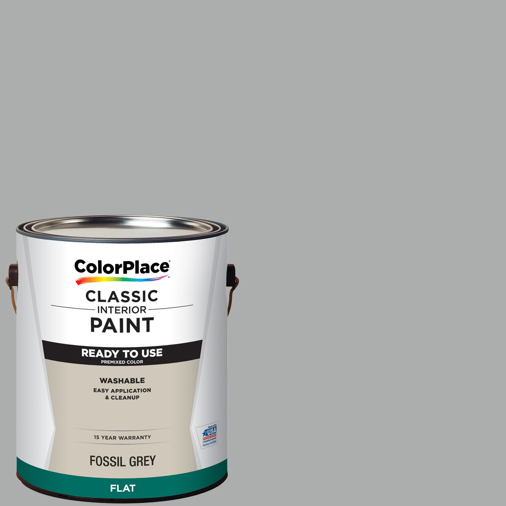ColorPlace Classic Interior Paint + Primer Ready to Use Fossil Grey, Flat