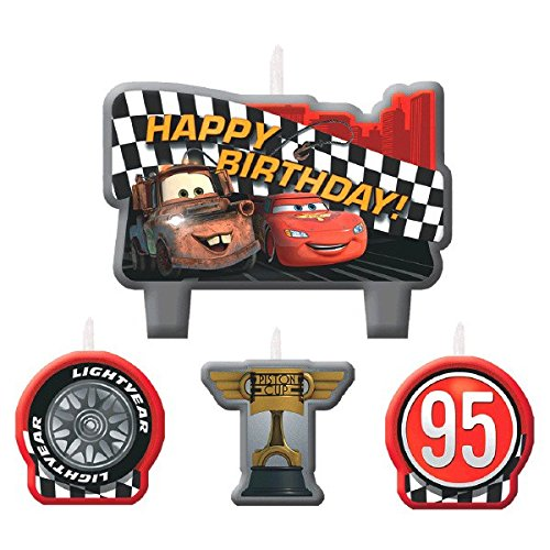 Cars Birthday Birthday Party Cake Candle Set, 1