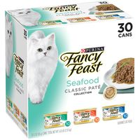 Fancy Feast Grain Free Pate Wet Cat Food Variety Pack, Seafood Classic Pate Collection