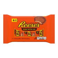 Reese's Milk Chocolate Peanut Butter Cups, 6-1.5 oz. Candy