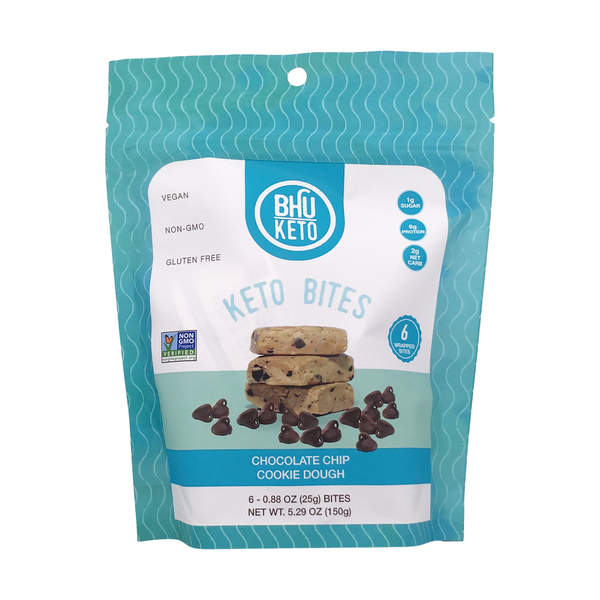 Bhu foods Keto Chocolate Chip Cookie Dough Bites, 5.29 oz