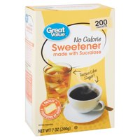 Great Value No Calorie Sweetener, 200 count, 7 oz