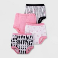 Lamaze Baby Girls' Organic 4pk Owl Training Pants - Black/White 18-24M
