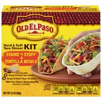 Old El Paso Stand 'N Stuff Hard and Soft Taco Dinner Kit, 9.4 oz