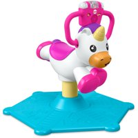 Fisher-Price Bounce and Spin Unicorn with Music & 2-Learning Modes