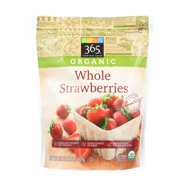 365 Everyday Value® Organic Whole Frozen Strawberries, 32 oz