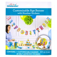 Customizable Happy Birthday Banner, 7 ft, 1ct
