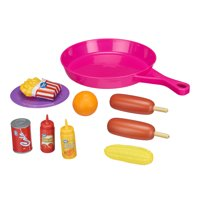 Spark. Create. Imagine. Cooking Pan with Play Food Toy Set, 10 Pieces