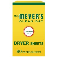 Mrs. Meyer's Clean Day Honeysuckle Scent Dryer Sheets - 80pk