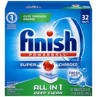Finish All in 1 Powerball Fresh Scent Automatic Dishwasher Detergent