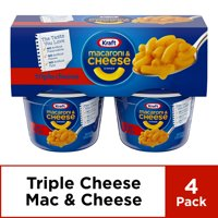 Kraft Easy Mac Triple Cheese Macaroni and Cheese, 4 ct - 8.2 oz Package