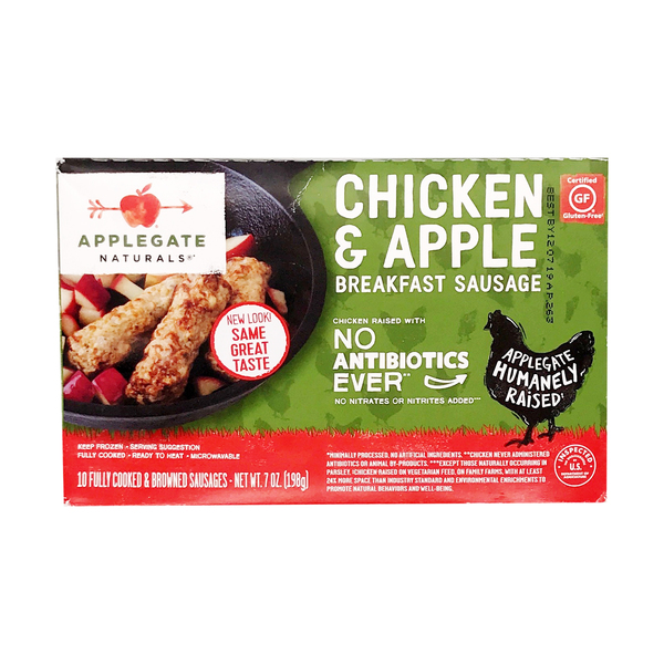 Applegate naturals Natural Chicken & Apple Breakfast Sausage, 7 oz
