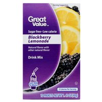 Great Value Antioxidant Sugar-Free Blackberry Lemonade Drink Mix, 1.41 Oz., 10 Count