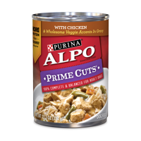 Purina ALPO Gravy Wet Dog Food, Prime Cuts With Chicken - 13.2 oz. Can