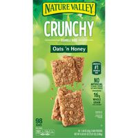 Nature Valley Crunchy Oats 'n Honey Granola Bars, 98 ct