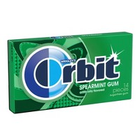 Orbit Spearmint Sugar Free Chewing Gum Single Pack -14 Piece