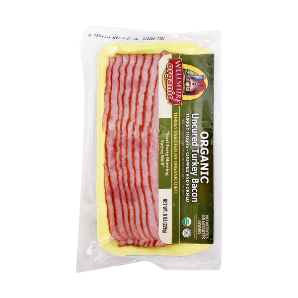 Wellshire farms Organic Uncured Turkey Bacon, 8 oz