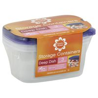 Signature Storage Containers, Deep Dish, 64  Fluid Ounces