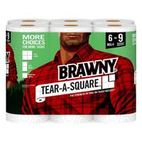 Brawny Paper Towels, Tear-A-Square, 2-Ply, Rolls