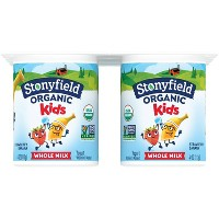 Stonyfield Organic Whole Milk Strawberry Banana Kids' Yogurt - 6ct/4oz Cups