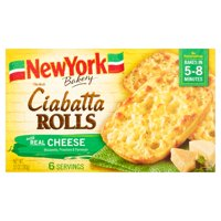 New York Bakery Olde World Ciabatta Cheese Rolls, 6 ct