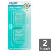 Equate Extra Comfort Mint Dental Floss, 40m, 2 Count