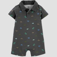 Baby Boys' Construction Romper - Just One You® made by carter's Gray