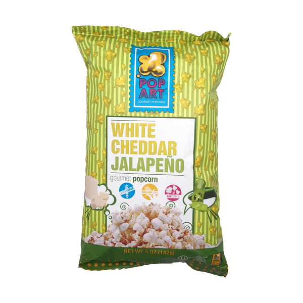 Pop art snacks White Cheddar Jalapeno Popcorn, 5 oz