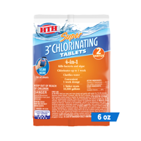HTH Super 3 inch Chlorinating Tablets for sanitizing Swimming Pools, 6 oz