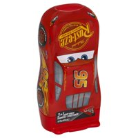 Disney Pixar Cars Lightning McQueen 3 in 1 Shampoo Conditioner Body Wash, 14 fl oz