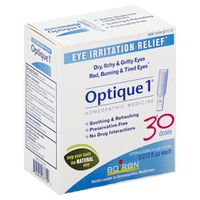 Boiron Optique 1 Eye Irritation Relief Homeopathic Medicine Sterile Single-Use Doses - 30 CT