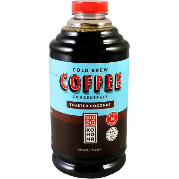 Kohana Coffee, Cold Brew, Toasted Coconut, Concentrate