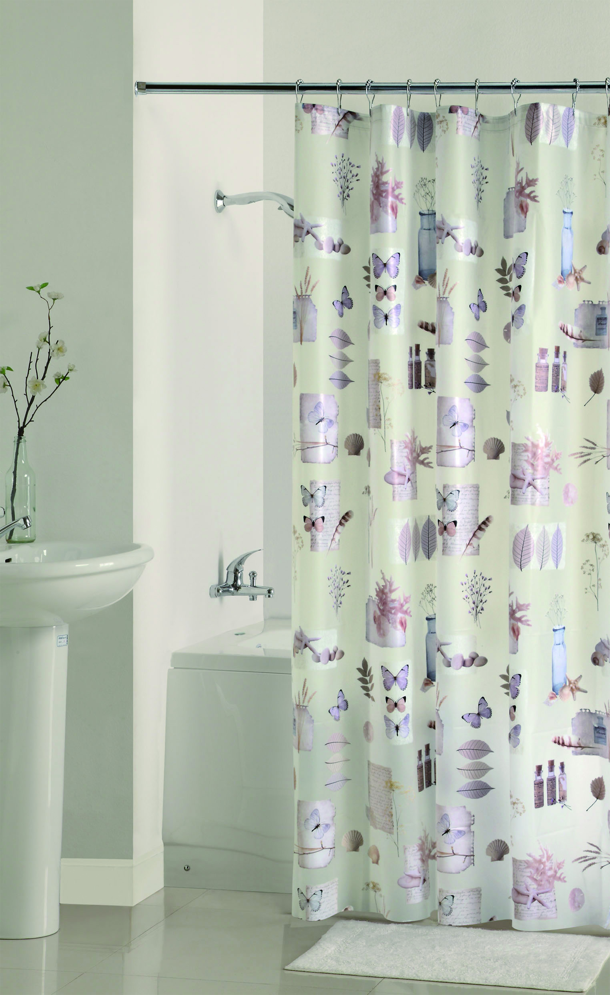 Mainstays Natures Moments Peva Shower Curtain, 70