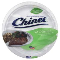 """Chinet Classic White Dinner Plates, 10.375"""""""