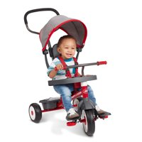 Radio Flyer, 5-in-1 Stroll 'n Trike with Activity Tray, Red & Gray
