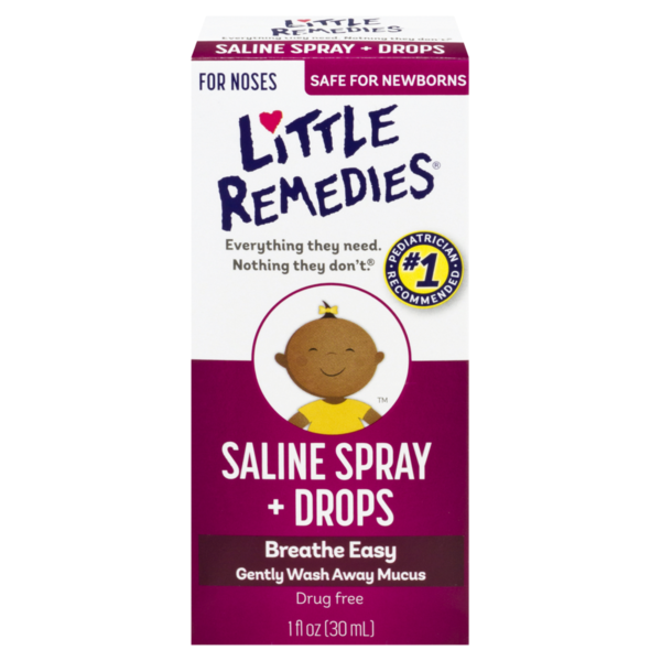 Little Remedies Saline Spray + Drops