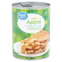 Great Value Apple Pie Filling or Topping, 21 oz
