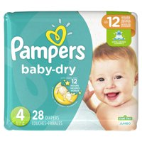Pampers Baby-Dry Diapers Size 4 28 Count