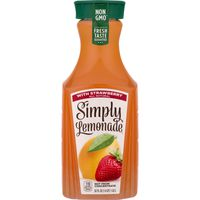Simply Lemonade With Strawberry, All Natural Non-Gmo