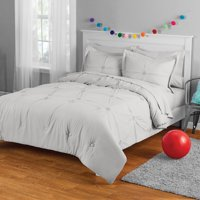 Your Zone Embroidered Pintuck Bed in a Bag Bedding Set, Multiple Colors