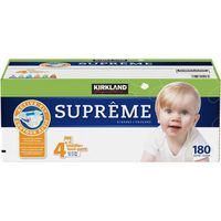 Kirkland Signature Supreme Diapers, Size 4, 180 ct
