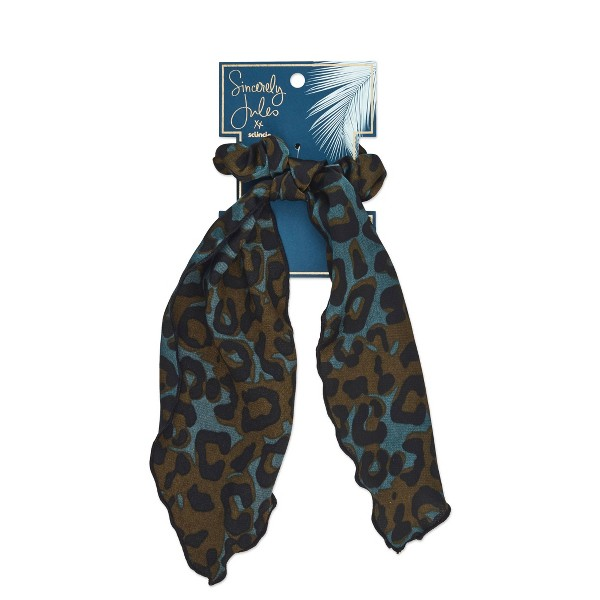 Sincerely Jules by Scunci Leopard Scrunchie with Tail