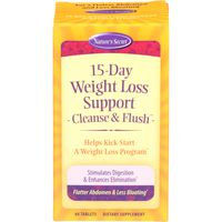 Nature's Secret 15-Day Weight Loss Support Cleanse & Flush Dietary Supplement Tablets - 60 CT