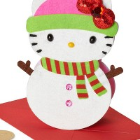 Christmas Greeting Card With Hello Kitty - PAPYRUS