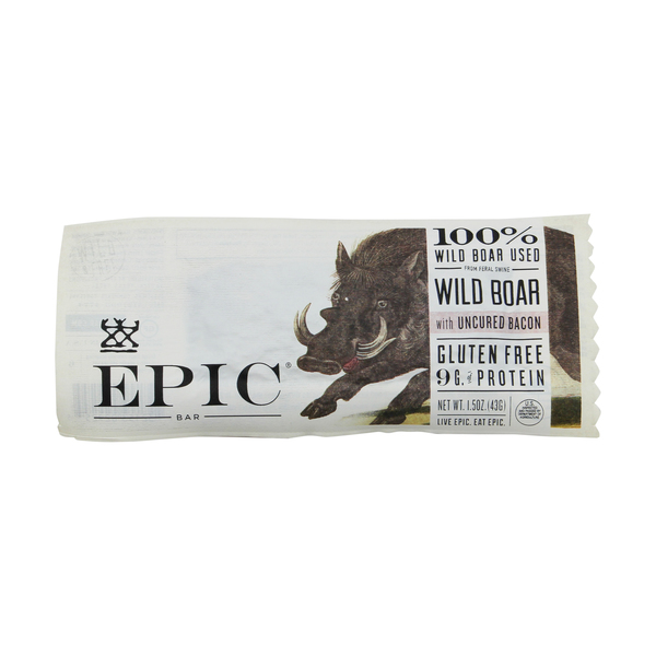 Epic Wild Boar with Uncured Bacon Bar, 1.5 oz